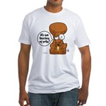 Winston - Don't touch my nuts! Fitted T-Shirt