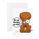 Winston - Don't touch my nuts! Greeting Cards (Pk