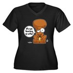 Winston - Don't touch my nuts! Women's Plus Size V