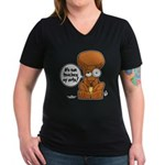 Winston - Don't touch my nuts! Women's V-Neck Dark