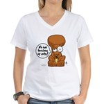 Winston - Don't touch my nuts! Women's V-Neck T-Sh