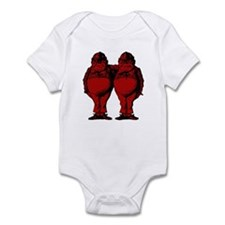 Tweedle Twins Red Infant Bodysuit