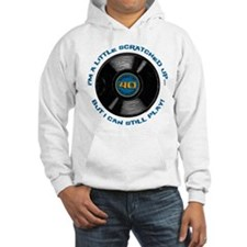 Scratched Record 40th Birthday Hoodie