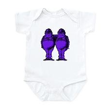 Tweedle Twins Purple Infant Bodysuit