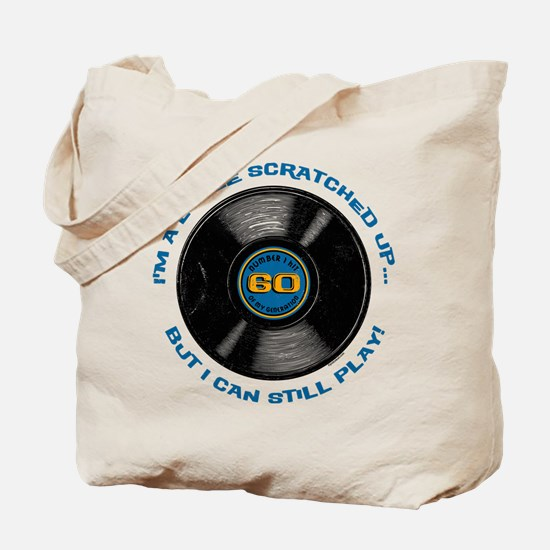 Scratched Record 60th Birthday Tote Bag