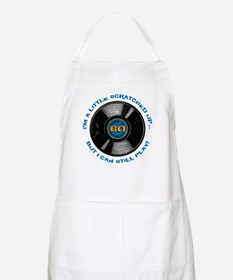 Scratched Record 60th Birthday Apron
