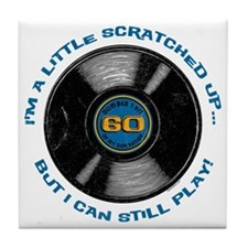 Scratched Record 60th Birthday Tile Coaster
