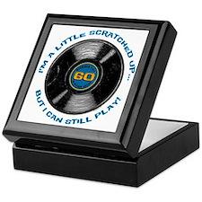 Scratched Record 60th Birthday Keepsake Box