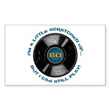 Scratched Record 60th Birthday Decal