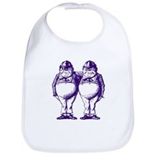Tweedle Twins Purple Bib