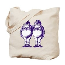 Tweedle Twins Purple Tote Bag