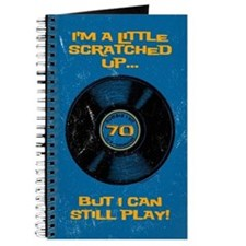 Scratched Record 70th Birthday Journal