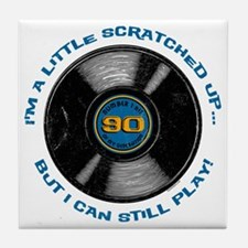 Scratched Record 90th Birthday Tile Coaster