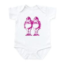 Tweedle Twins Pink Infant Bodysuit