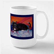 """Mug (large) """"Black Cat & Yarn"""""""