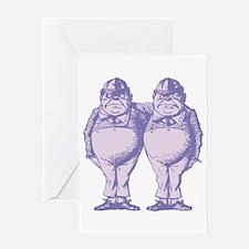Tweedle Twins Lavender Greeting Card