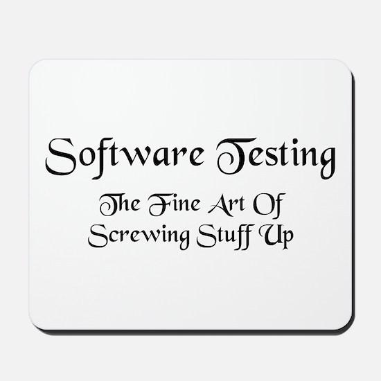 Software Testing Mousepad