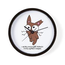 Chocolate Bunny Shrink Wall Clock