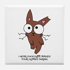 Chocolate Bunny Shrink Tile Coaster