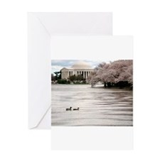 Unique Cherry blossoms Greeting Card