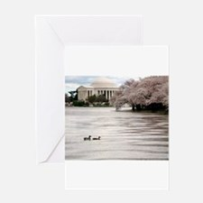 Unique Washington dc cherry blossom Greeting Card