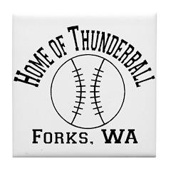 Home of Thunderball Tile Coaster