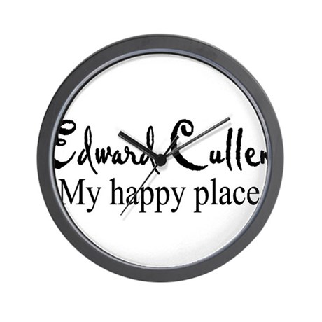 Edward Cullen my happy place Wall Clock