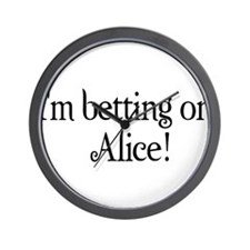 I'm betting on Alice Wall Clock