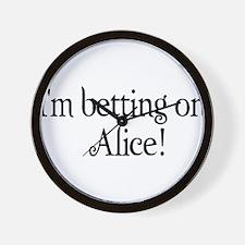I'm betting on Alice Wall Clock