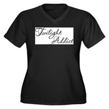 Twilight Addict Women's Plus Size V-Neck Dark T-Sh