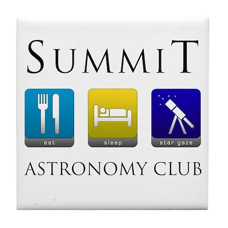 Summit Astronomy Club - Stargaze Tile Coaster