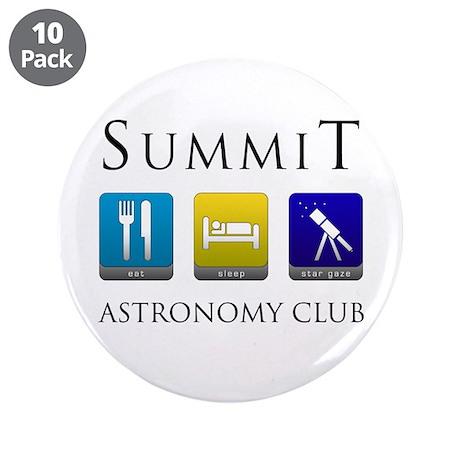 "Summit Astronomy Club - Stargaze 3.5"" Button (10 p"