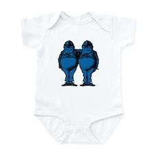 Tweedle Twins Blue Infant Bodysuit