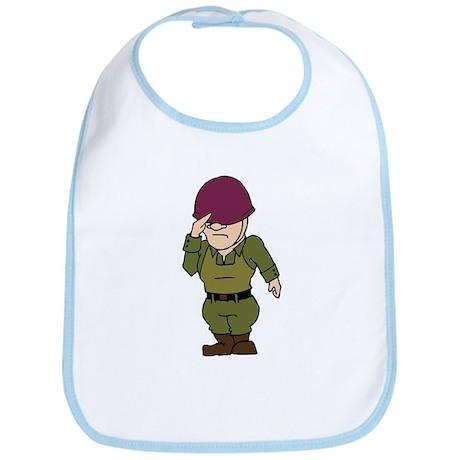 Purple Helmeted Soldier Bib
