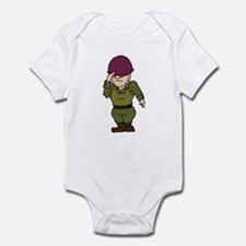 Purple Helmeted Soldier Infant Bodysuit