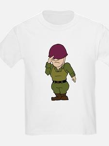 Purple Helmeted Soldier T-Shirt
