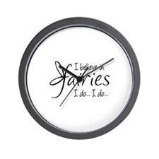 I believe in fairies Wall Clock