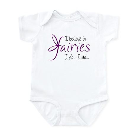i believe in fairies color Infant Bodysuit