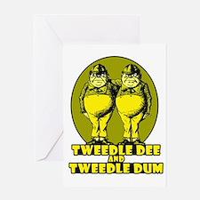 Tweedle Twins Logo Yellow Greeting Card