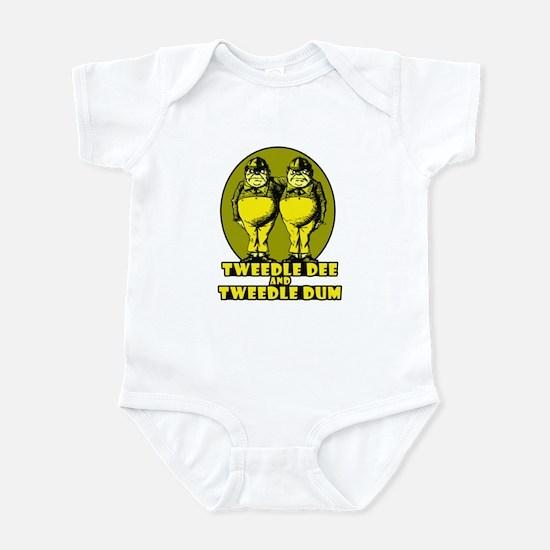 Tweedle Twins Logo Yellow Infant Bodysuit
