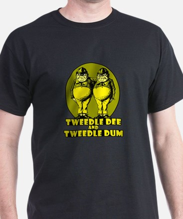 Tweedle Twins Logo Yellow T-Shirt