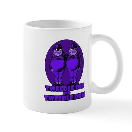 Tweedle Twins Logo Purple Mug
