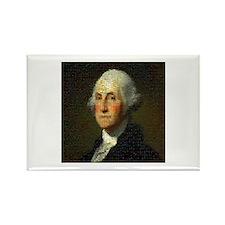 George Washington Mosaic Rectangle Magnet