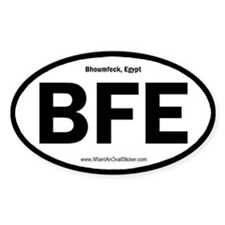 Bhoumfeck, Egypt Oval Decal