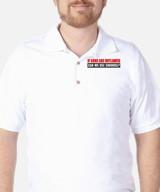 Can We Use Swords? Golf Shirt
