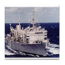 USS Camden AOE 2 Ship's Image Tile Coaster