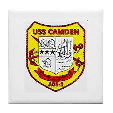 USS Camden AOE 2 Tile Coaster