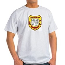 USS Camden AOE 2 Ash Grey T-Shirt