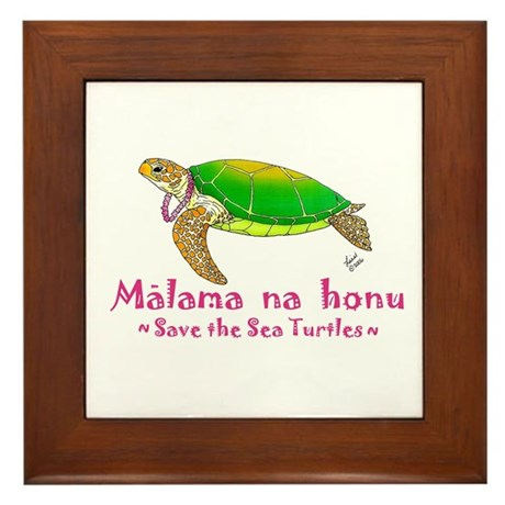 Honu Framed Tile