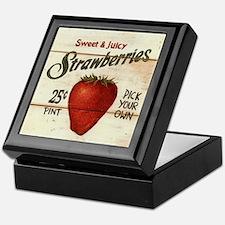 Pick Your Own Strawberries Keepsake Box